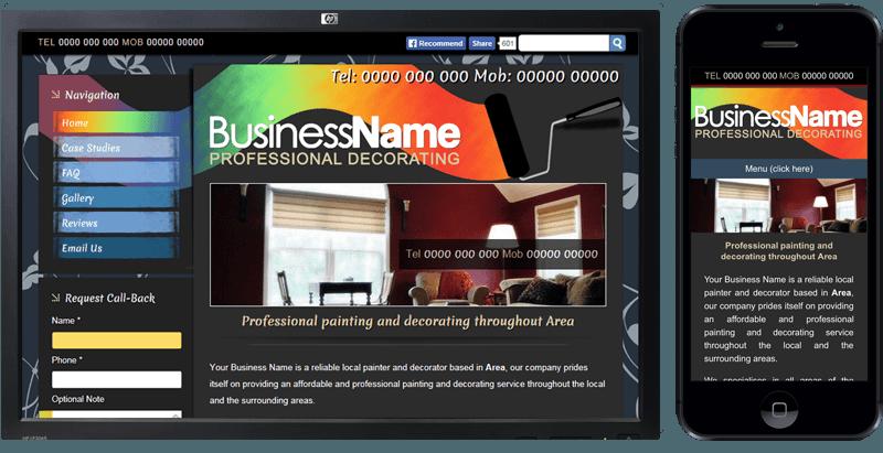 Website Design for Tradesmen, Decorators Plasterers, Cleaners